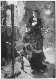 In het atelier (De jongedames van Stolk)