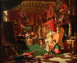 Antony van Dyck schildert een portret