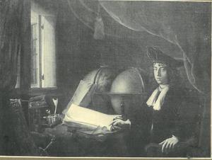 Een geleerde in zijn studeerkamer