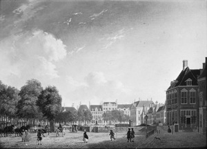 De Korte Vijverberg in Den Haag gezien vanaf de Plaats