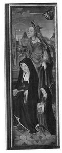 Portret van Geertruid van Diemen (....-1532) met Margaretha van Heemskerck van Beest (....-....) en de H. Maria Magdalena