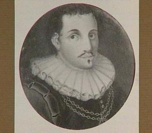 Historiserend portretminiatuur van een edelman