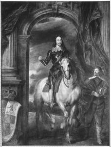 Portret van Karel I van Engeland te paard met zijn opperstalmeester M. de Saint-Antoine