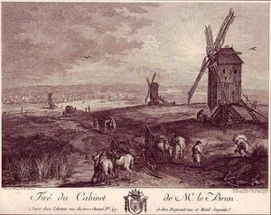 Landschap met drie molens