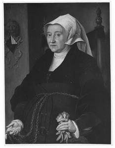 Portret van Margaretha van Binchem, tweede echtgenote van Aert van der Goes