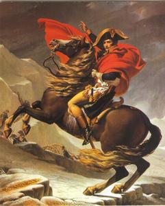 Napoleon Bonaparte steekt de Alpen over op de Grand Saint Bernard