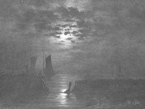 Schepen in het maanlicht