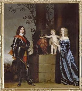 Familieportret van Arent I van Wassenaer (1610-1681) met zijn vrouw Anna Margaretha van Scherpenzeel (1622-1662) en hun zoon Jacob van Wassenaer (1649-1707)