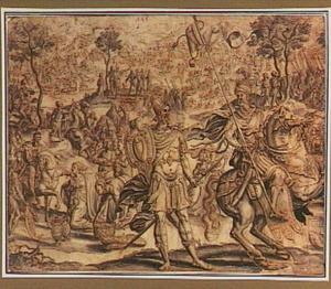 De ontmoeting van David en Abigaïl, die hem mondkost voor zijn leger brengt (1 Samuel 25:23) ; Koning David trekt ten strijde tegen de Filistijnen (1 Samuël 17:38-51) en andere voorstellingen uit de geschiedenis van koning David (1 en 2 Samuël)
