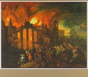 Aeneas redt zijn vader uit het brandende Troje