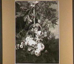 Een mand met bloemen