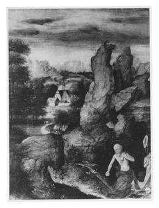 Landschap met boetende H. Hiëronymus
