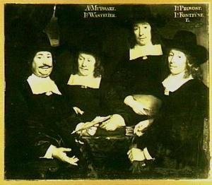 De regenten van het Walenweeshuis, Amsterdam 1662