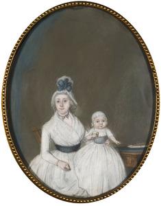 Portret van Catharina Wilhelmina van Vollenhoven (1770-1804) en Gerardus Cornelis Johannes Tielenius Kruythoff (?-1853)
