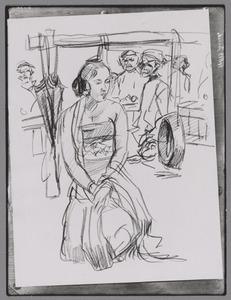 Javaanse straatdanseres