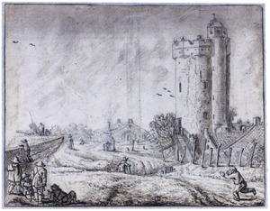 Stadswal met Bijlhouwerstoren te Utrecht