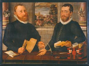 Twee gildemeesters van het St. Jorisgilde, 1589