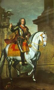 Keizer Karel VI op een schimmel