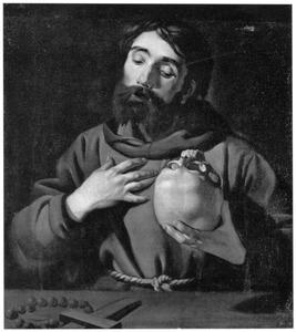De mediterende H. Franciscus van Assisi