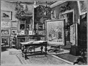 Het atelier van Henriette Ronner-Knip te Brussel
