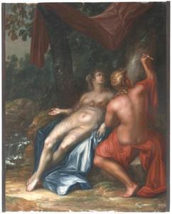 Paris en Oenone griffen hun naam in een boom