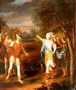 Venus verschijnt aan Aeneas als jageres