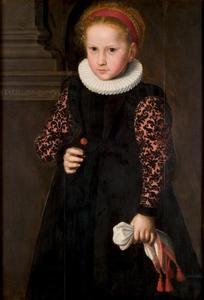 Portret van een zes-jarig meisje