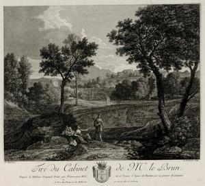 Zuidelijk landschap met een herder