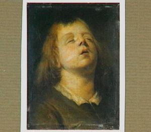 Hoofd van een  jongetje met dichte ogen
