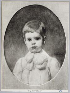 Portret van de zoon van de kunstenaar
