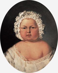 Portret van de latere koning Willem III (1817-1890) als kind