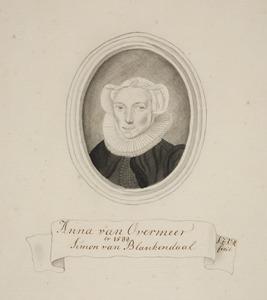 Portret van Anna van Overmeer (....-....)