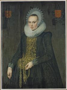 Portret van Justina van Teylingen (1596-1643)
