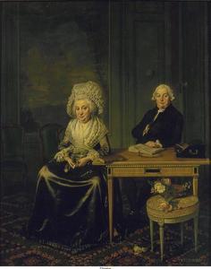 Portret van Jacob Feitama (1726-1797) en Elisabeth de Haan (1735-1800)