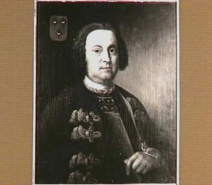 Portret van James John Melvill van Carnbee (1708-1751),  echthenoot van Maria Velsenaer