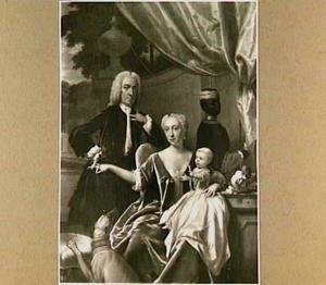 Portret van de familie Van Friesheim, met een bediende