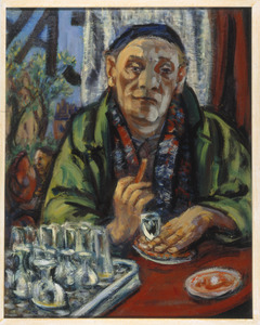 Zelfportret in café Hoppe, Amsterdam (authentiek)
