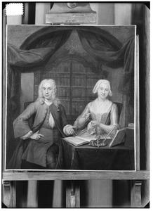 Dubbelportret van Everardus Jacobus van Wachendorff (1703-1758) en echtgenote