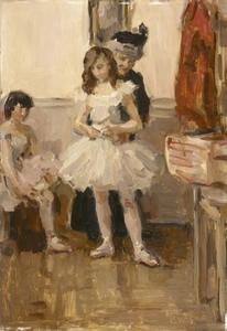 Het toilet van een balletdanseres