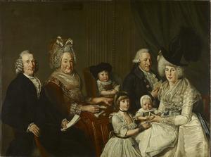 Portret van Pieter de Clercq (1731-1807) en zijn familie
