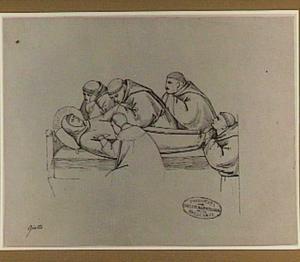 De edelman Hieronymus onderzoekt de stigmata bij de H. Franciscus
