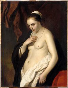 Portret van een naaktmodel (Catarina Jans?)