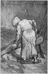 Boerin die vlas kneust
