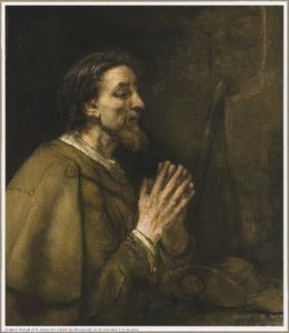 De apostel Jacobus de Meerdere biddend