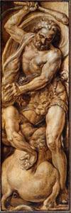 Hercules vernietigt de centaur Nessus