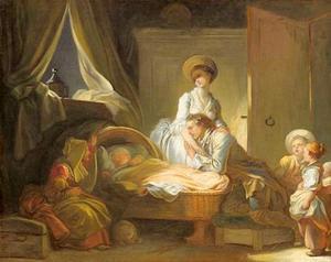 Bezoek in de babykamer