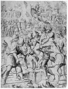 Jozef door zijn broers in een put geworpen (Genesis 37:23-25)