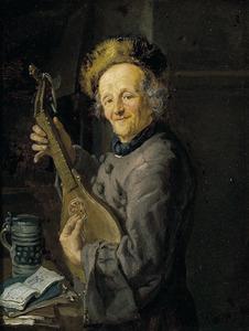 Citer spelende oude man