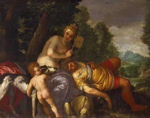 Venus en de slapende Adonis