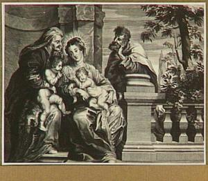 De Heilige familie met Elizabeth en Johannes de Doper